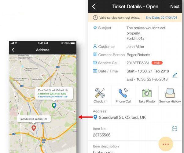 ticket details